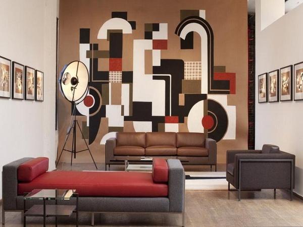 家具卖场墙面手绘